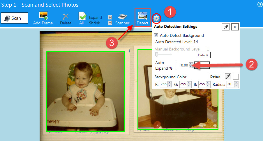 How to Scan Multiple Photos with Borders of Same Size
