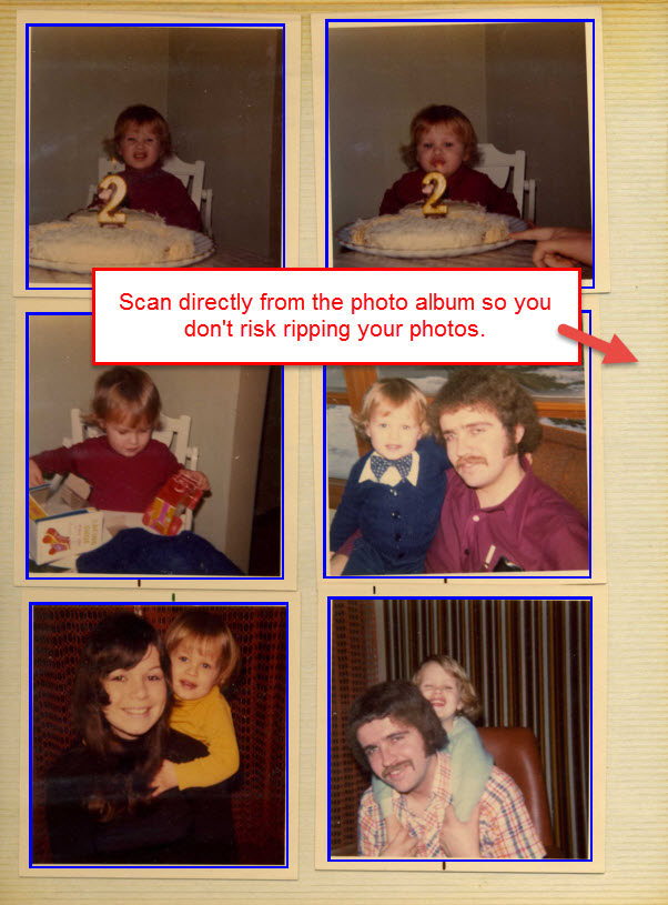 scan multiple photos from photo album
