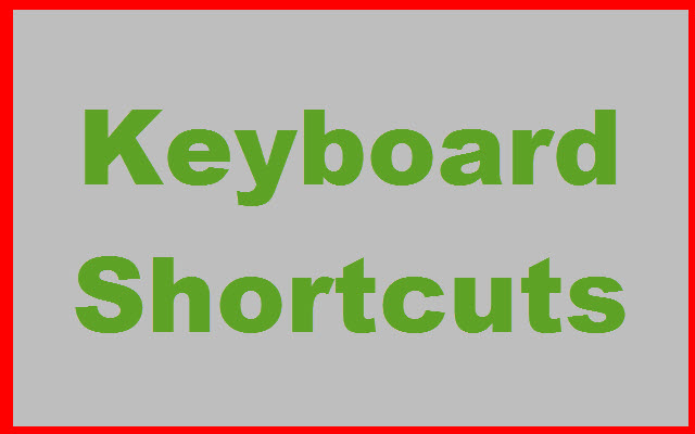 Photo Scanning Keyboard Shortcuts