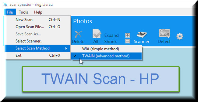 TWAIN Photo Scanning - HP