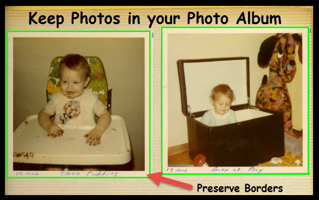 Scan Photos DIRECTLY from your Photo Albums